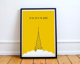 New York Chrysler Building Digital Poster | Digital Download | Quote Poster | Skyscraper Poster
