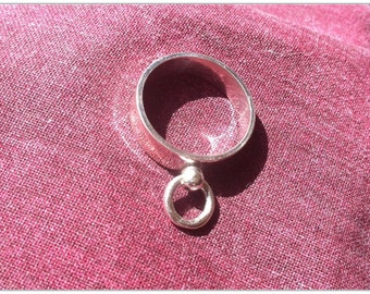 Sterling Silver Story of O Ring, BDSM O Ring, Sterling Silver, Unisex, Universal for Sub & Switch