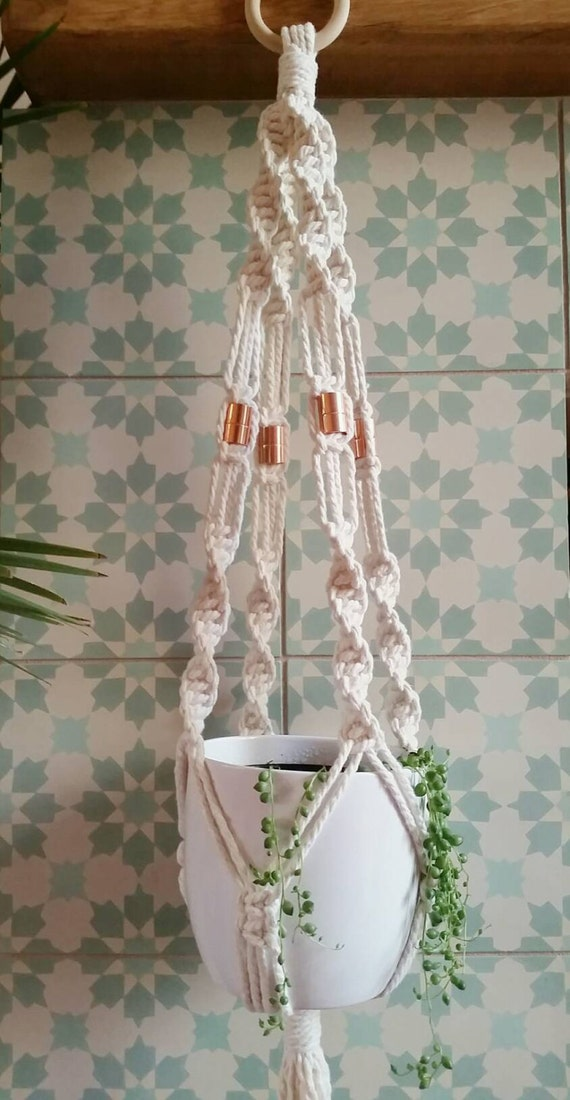 macrame pot hanger plant holder handcrafted using 100