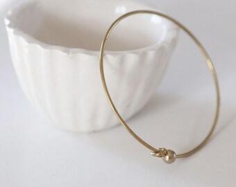 Brass Cuff Bracelet crude finish diameter 60mm