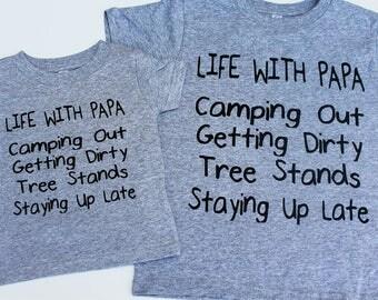 toddler shirt, Grandparent shirt, Grandpa and me, hunting shirt, hunting buddy, kids shirt, baby gift, grandparent gift, toddler boy clothes