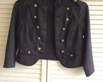 Vintage Cropped Military Jacket