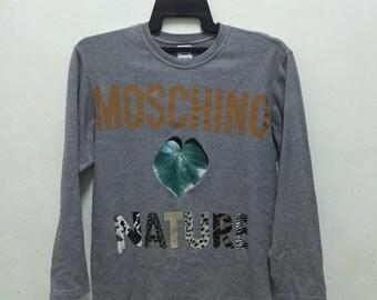 Moschino Jeans Italy Sweatshirt Mens Large/Rare