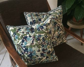 PAIRS cushion covers - chain stitch