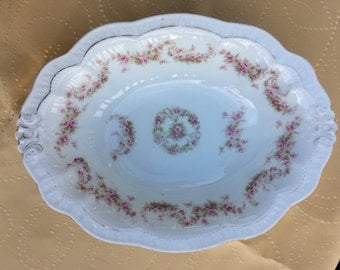 ZEH SCHERZER & CO., Oval Serving Dish, Z. S. Co. Bavaria, Orleans Pattern, Cottage Chic, Tea Parties, French Country, Antique Bowl