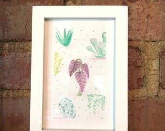 Succulent Watercolor Painting