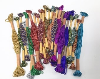 23 Skeins - Total 80m Metallic Threads for Wrapping and Christmas Packing