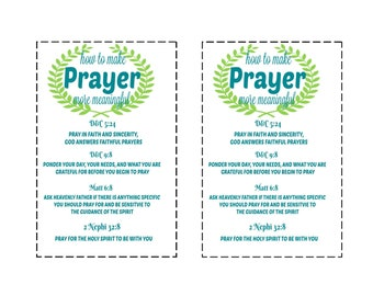 Prayer Scriptures