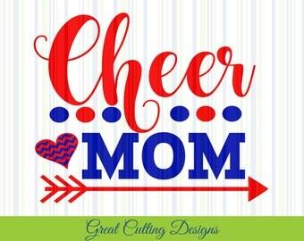 Cheerleader SVG Cut File DXF Cheer Mom SVG Cricut svg Silhouette svg Vinyl Cut File Digital cut file Cricut cut file Silhouette dxf cut file