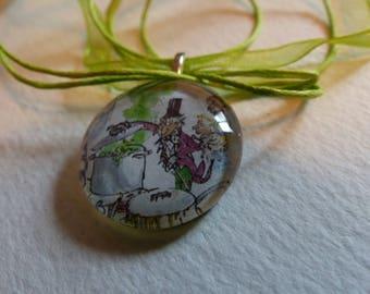 Roald Dahl Inspired Glass Pendant
