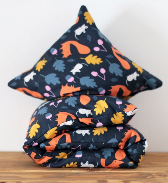 """Cherry Stone Pillow """"Woodland Critters"""""""