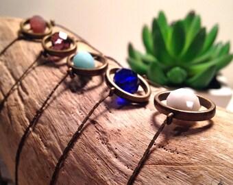 Bracelet Pearl glass
