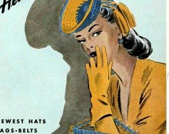 Pattern is from original 1940s crochet