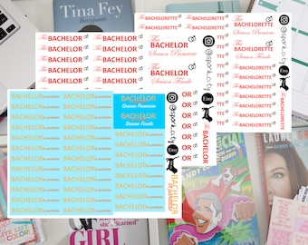 BACHELOR/BACHELORETTE/in PARADISE Planner Stickers