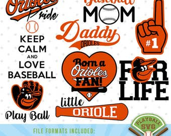 Orioles SVG files, baseball designs contains dxf, eps, svg, jpg, png and pdf files. PB-029