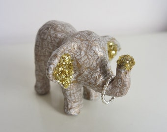 Elephant Jewellery Holder, Ring Holder, Elephant Ornament, Elephant Statue, Jewellery Collection Holder, Small Home Decor, Gift for her