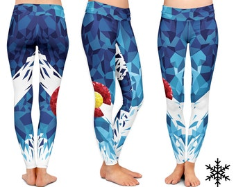 LEGGINGS - Colorado Yoga Leggings -  Colorado Yoga Pants sport mandala Yoga leggings fitness workout Yoga Colorado Leggings WYNTERCO pants