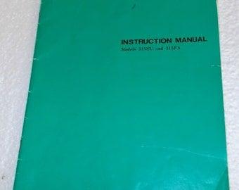 Sewing Machine Manual for RICCAR Models 315SU and 315FA
