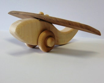 Natural Wood Toy Airplane