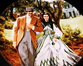ON SALE Gone With The Wind Collectors Plate