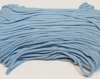 Blue cotton cord 100 m (110 yd) 5 mm (0,2 in), cotton rope, macrame cord