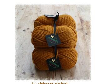 Handmade Custom Knit Shawl ~ Butterscotch