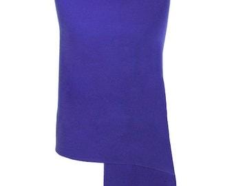Royal Blue Pashmina / Royal Blue Shawl / Royal Blue Wrap - 100% Cashmere - Handmade in Nepal - Pashminas and Wraps