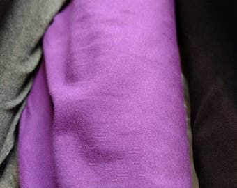 Purple Cotton Lycra Jersey Knit Solid