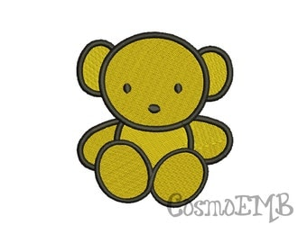 6 Size Baby Bear Embroidery design Machine Embroidery - Digital INSTANT DOWNLOAD