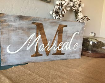 Personalized hand painted Monogram sign