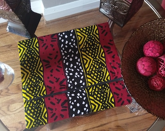 African Print   Fold Over Large  Clutch Purse