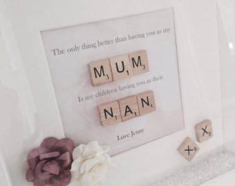 Personalised 'The Only Thing Better Than Having You As My Mum/Sister' Print with Frame