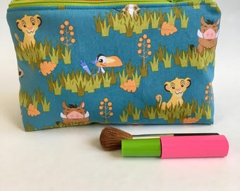 Cosmetic Bag, Disney Lion King Pouch