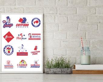 South London chicken shop logo print