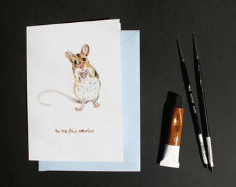 Friendship/Love Greetings Card - Souris - French