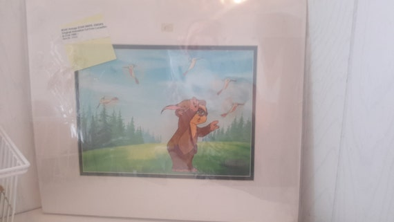 star wars 1983 ewok Animation Cell with coa