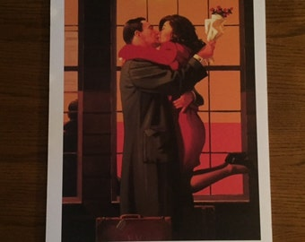 Large 1990's Jack Vettriano, Portland Gallery London,  Poster mounted to foam board, with or without frame