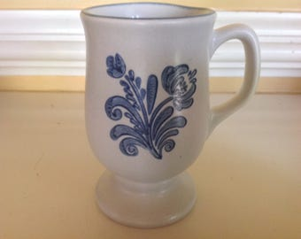Pfaltzgraff Blue Folk Art Mug