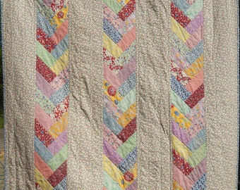 1930 Reproduction Patchwork Quilt / Handmade
