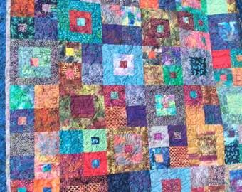 Homemade Batik queen sized quilt