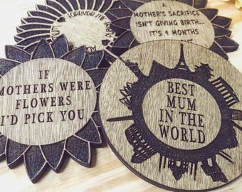 Mother's Day Coasters (FREE UK SHIPPING)