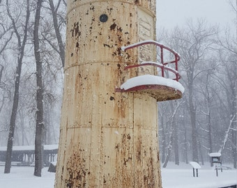 Winter Lighthouse Photo