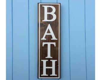 Bath Sign - Bathroom Wall Decor - Bathroom Sign - Home Decor - Valentine's Day Gift - Wedding Gift - Gift for Wife - Gift For Her