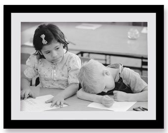 Teachers Gift, School Decor, Boy Photo, Sleeping, Photo Print, Children, Wall Art, Students, School Farmhouse Modern, Dream Big Little One