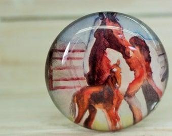 Horse decor, fridge magnet, Horse art,  Equine art, refrigerator magnet, Cowgirl gift, office magnet, horse decoration, farmhouse chic