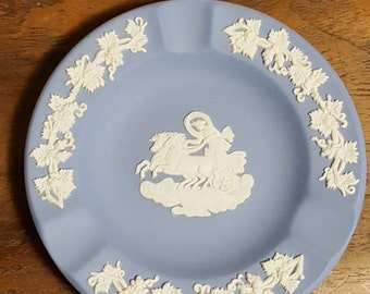 Vintage Blue Jasperware Wedgewood Ashtray