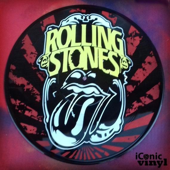 Rolling Stones hand-sprayed Vinyl Record