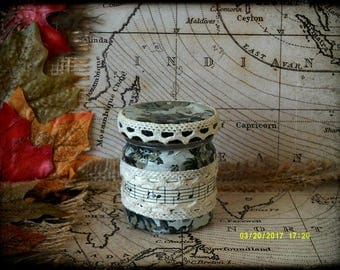 Hand Decorated Secret Stash Jar Cannabis/Marijuana/Weed/Herb/Pills...Wedding Favour 45ml