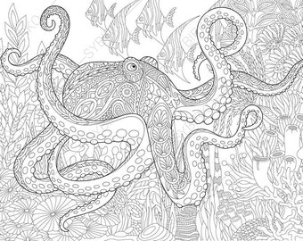 lobster costume coloring page octopus
