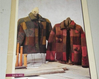 Kersey Coat Melissa Becker Design Patchwork Wool Jacket Pattern Booklet 12688